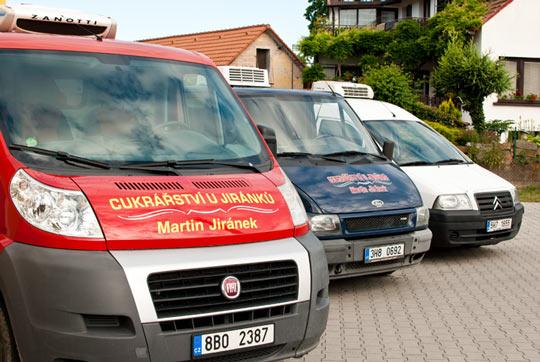 Naše chladírenské vozy