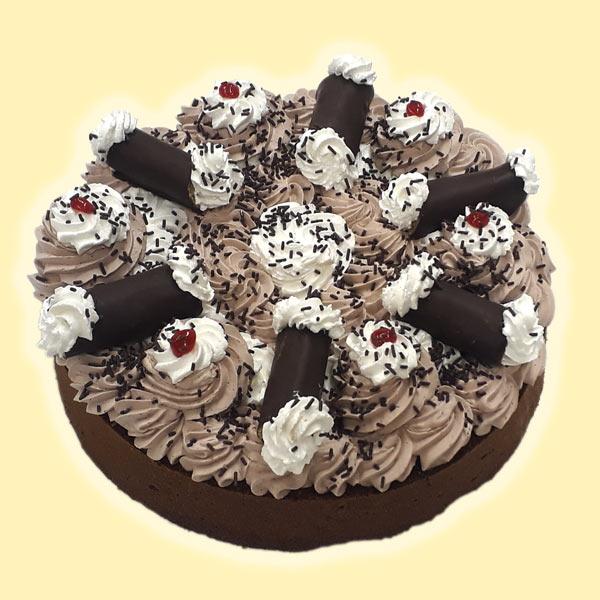 Harlekýn dort s trubičkama